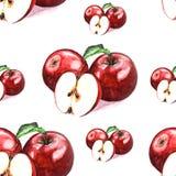 Ilustracja akwareli jabłek wzór ilustracja wektor