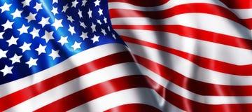 ilustracja amerykańskiej flagi Obrazy Royalty Free