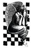 Ilustracja anioł royalty ilustracja