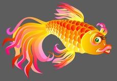 Ilustracja bajkowa złoto ryba Zdjęcie Royalty Free