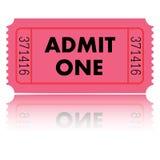 ilustracja bilet Fotografia Stock