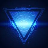 Ilustracja binarny kod na abstrakcjonistycznym technologii tle Obraz Royalty Free