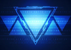 Ilustracja binarny kod na abstrakcjonistycznym technologii tle Zdjęcia Royalty Free