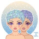 ilustracja bliźniaków wektoru szyldowy zodiak Obraz Royalty Free