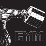 Ilustracja: bodybuilder z barbell ilustracji