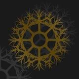 Ilustracja brązowego koła kruszcowy ornament Zdjęcia Stock