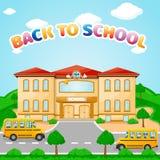 Ilustracja budynek szkoły dla z powrotem szkoła sztandar Zdjęcie Royalty Free