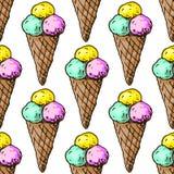 Ilustracja cukierki śmietanka asortowany lód wesołych świąt bezszwowy wzoru ilustracja wektor