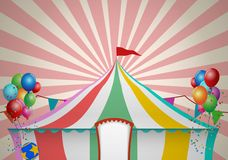 Cyrkowego namiotu świętowanie Obraz Royalty Free