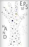 Ilustracja cząsteczkowa ręki struktura Obrazy Royalty Free