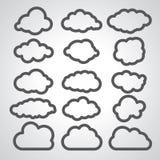 Ilustracja czarne chmury inkasowe Zdjęcie Stock