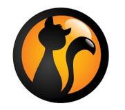 Czarnego kota znak Obrazy Royalty Free