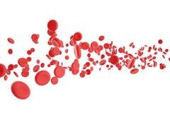 Ilustracja czerwone komórki krwi Fotografia Royalty Free