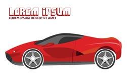 Ilustracja Czerwony sportowy samochód royalty ilustracja