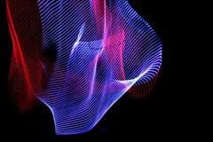 ilustracja 3 d Abstrakcjonistyczne kolorowe linie na neutralnym tle czarny kolor Krzy?uj?cy wzory tworzy tr?jwymiarowego wizerune ilustracji