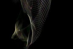 ilustracja 3 d Abstrakcjonistyczni tr?jwymiarowi wzory tworz?cy liniami Fotografia robi? z lekkim obrazem na czarnym tle ilustracji