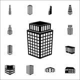 ilustracja 3d budynku ikona 3d budynku ikon ogólnoludzki ustawiający dla sieci i wiszącej ozdoby Ilustracja Wektor