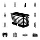 ilustracja 3d budynku szkoły ikona 3d budynku ikon ogólnoludzki ustawiający dla sieci i wiszącej ozdoby Ilustracji