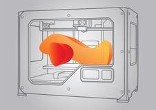 Ilustracja 3D drukarka Obrazy Stock