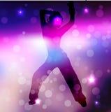 Ilustracja dancingowa dziewczyna ilustracji