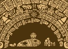 Ilustracja dla bajki o magicznej ryba i rybakach antyczny plemię Obrazy Royalty Free