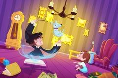 Ilustracja dla dzieci: Czarownica pokój ilustracji