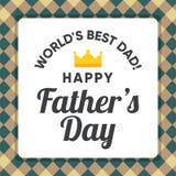 Ilustracja dla tata, szczęśliwy ojca ` s dzień Zdjęcia Stock