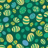 Ilustracja dla wakacje wielkanoc Wzór z wizerunkiem Wielkanocni jajka na tle kobaltu błękita kolor Fotografia Stock