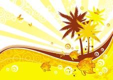 ilustracja do sunny Obrazy Royalty Free