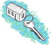 Ilustracja dom i klucz Obraz Stock