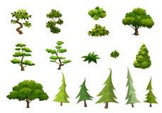 Ilustracja drzewa odizolowywający na białym tle Obraz Stock