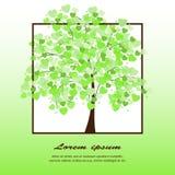 Ilustracja drzewo zakrywający z sercami ilustracja wektor