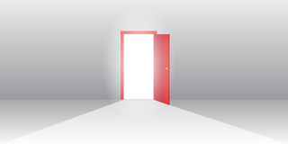 ilustracja drzwi otwarte Zdjęcie Stock