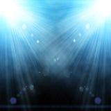 Ilustracja dwa światło reflektorów Zdjęcia Royalty Free