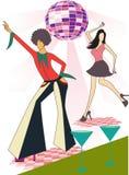 Ilustracja dwa dyskoteka tancerza royalty ilustracja