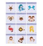 Ilustracja dwanaście znaków zodiak Obrazy Royalty Free