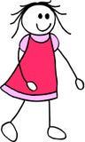 ilustracja dziewczyny Obrazy Royalty Free