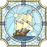 Ilustracja żeglowanie statki xvii wiek. Zdjęcia Royalty Free