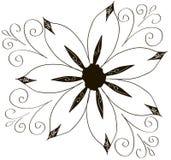 Ilustracja fryzująca kwiatu ornamentu kolekcja Zdjęcia Stock