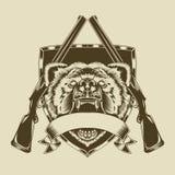 Ilustracja gniewna niedźwiedź głowa Obrazy Stock