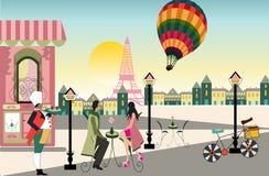 Ilustracja gorące powietrze balon ilustracja wektor
