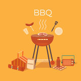 Ilustracja grill outdoors Obrazy Stock