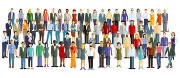 Ilustracja grupa ludzi royalty ilustracja
