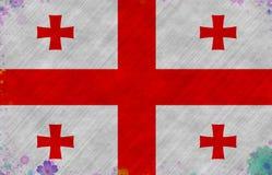 Ilustracja Gruzińska flaga fotografia stock