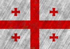 Ilustracja Gruzińska flaga zdjęcia stock