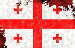 Ilustracja Gruzińska flaga obrazy royalty free