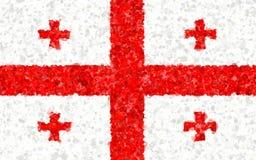 Ilustracja Gruzińska flaga zdjęcia royalty free