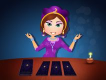 Ilustracja gypsy z tarot royalty ilustracja