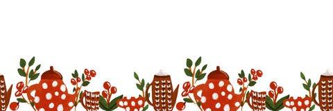 Ilustracja herbaciany czas ilustracja wektor
