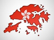 Ilustracja Hongkong święta państwowego tło Obrazy Royalty Free